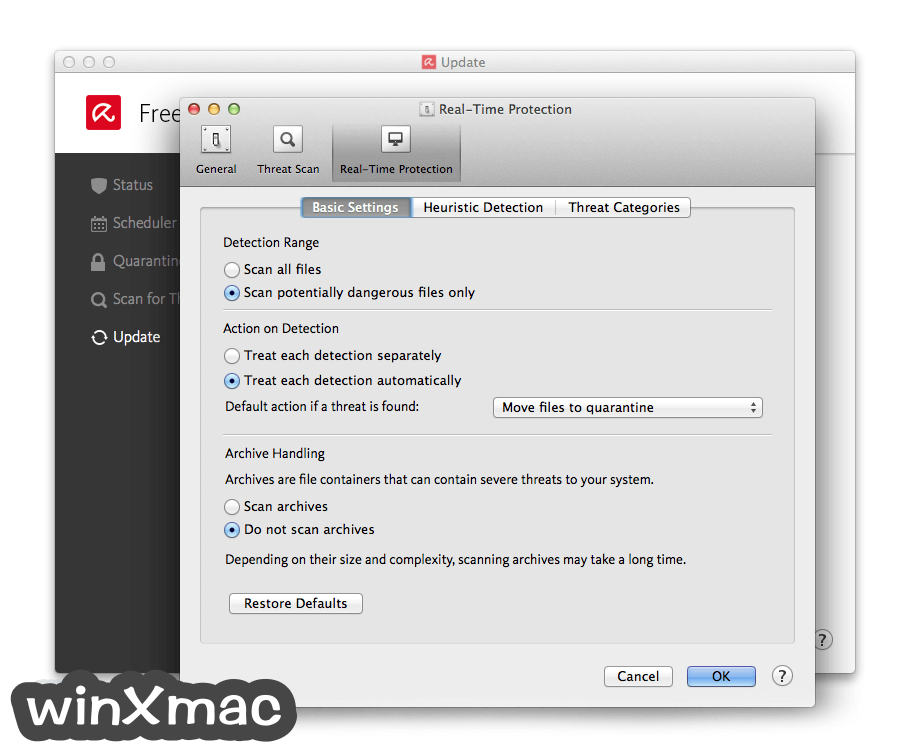 Avira Free Antivirus for Mac Screenshot 5
