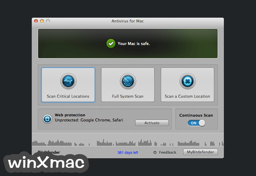 BitDefender Antivirus for Mac Screenshot 1