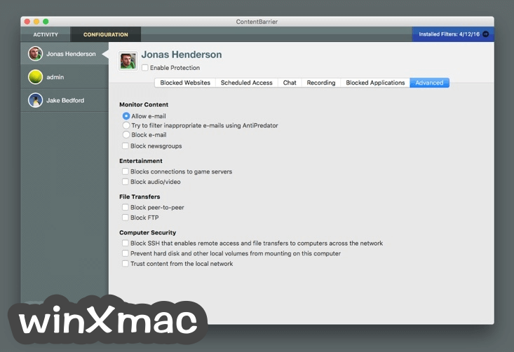 ContentBarrier for Mac Screenshot 4
