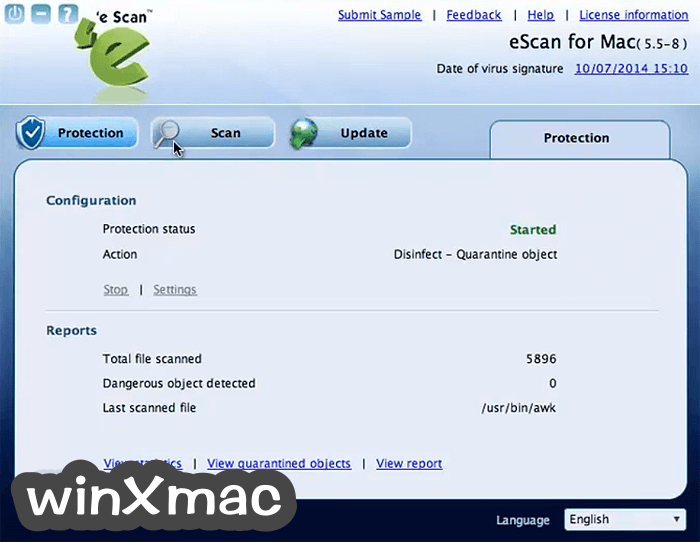 eScan Anti-Virus Security for Mac Screenshot 3