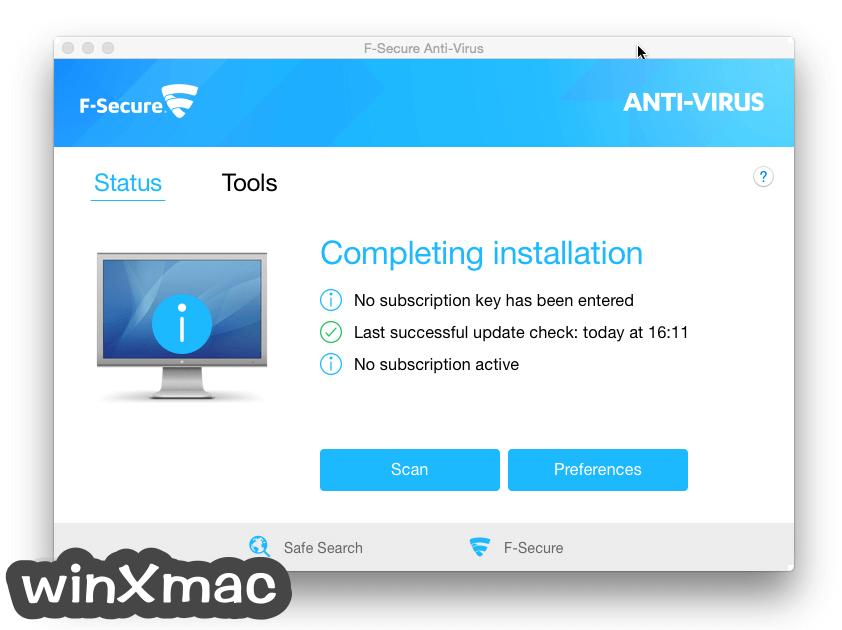 F-Secure Antivirus for Mac Screenshot 1
