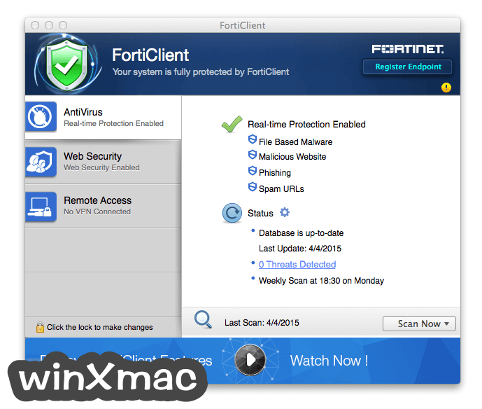 FortiClient for Mac Screenshot 1