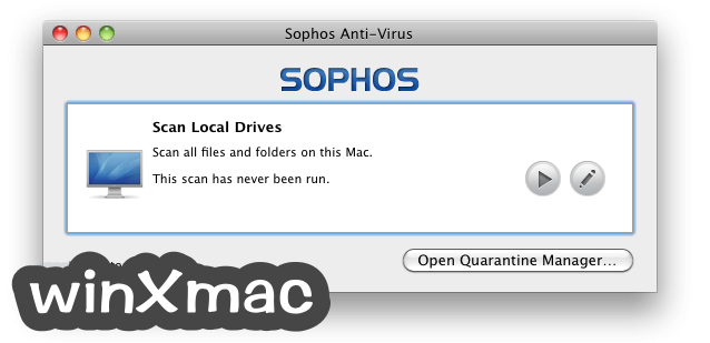 Sophos Anti-Virus for Mac Screenshot 1