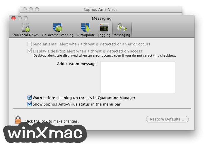 Sophos Anti-Virus for Mac Screenshot 5