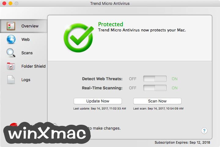 Trend Micro Antivirus for Mac Screenshot 1