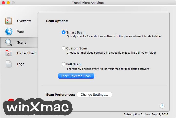 Trend Micro Antivirus for Mac Screenshot 2