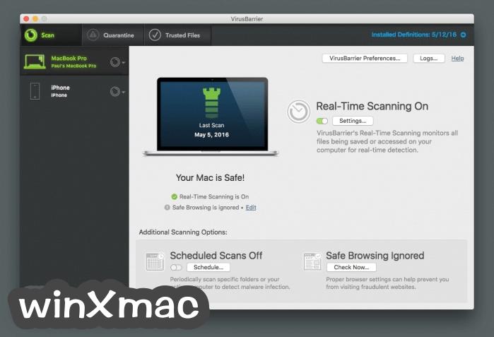 VirusBarrier for Mac Screenshot 1