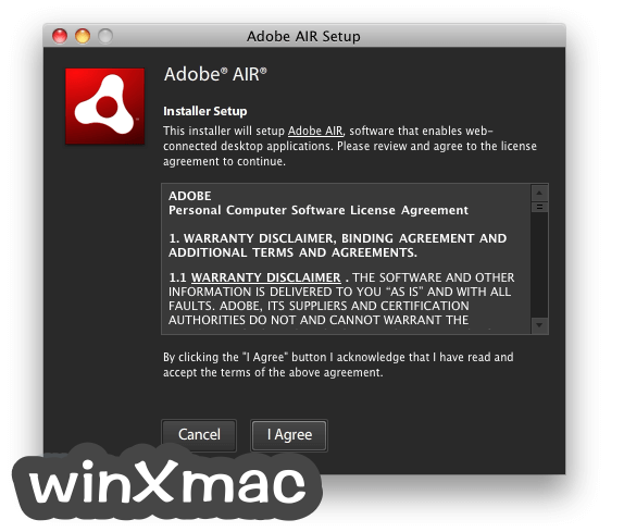 Adobe Air for Mac Screenshot 1