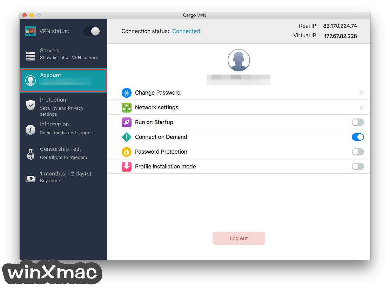 Cargo VPN for Mac Screenshot 3