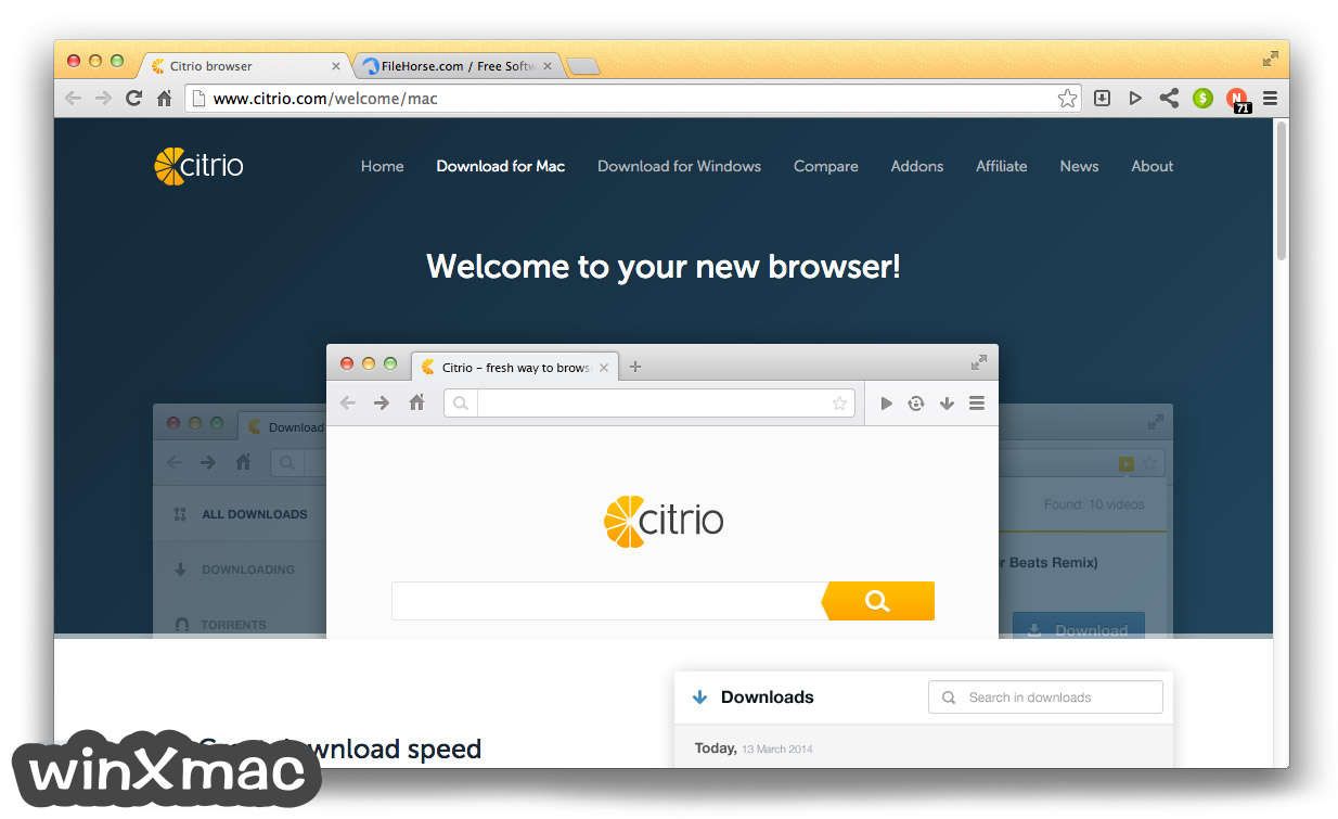 Citrio for Mac Screenshot 1