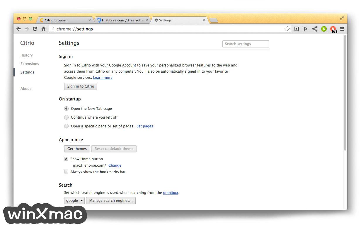 Citrio for Mac Screenshot 5