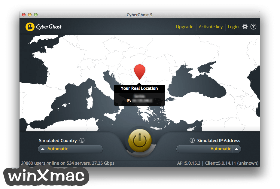 CyberGhost VPN for Mac Screenshot 1