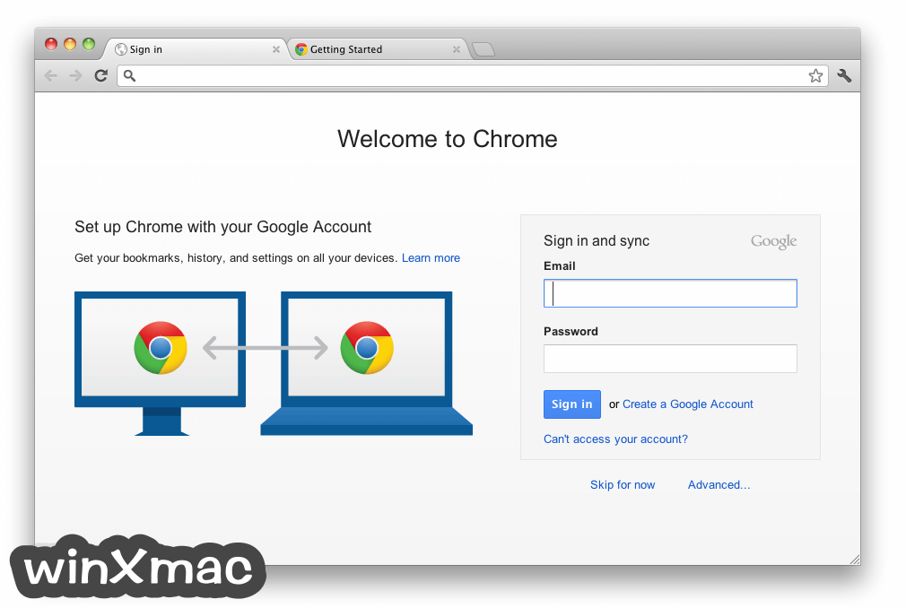 Google Chrome for Mac Screenshot 1
