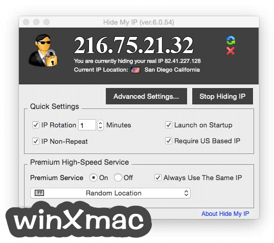 Hide My IP for Mac Screenshot 1