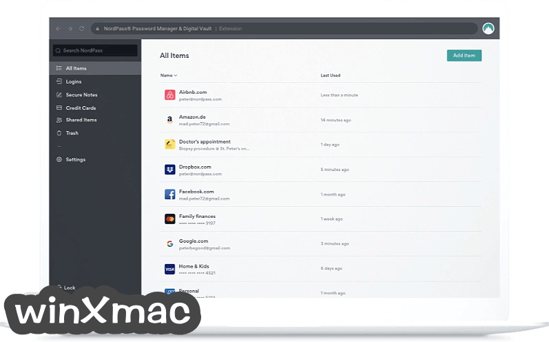 NordPass for Mac Screenshot 1