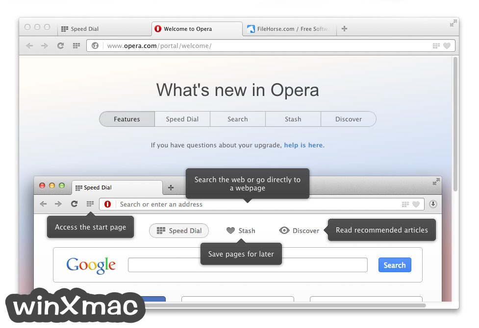 Opera for Mac Screenshot 1