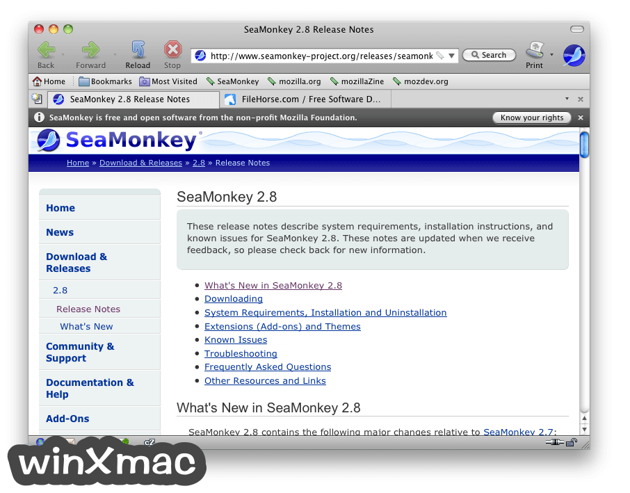 SeaMonkey for Mac Screenshot 1