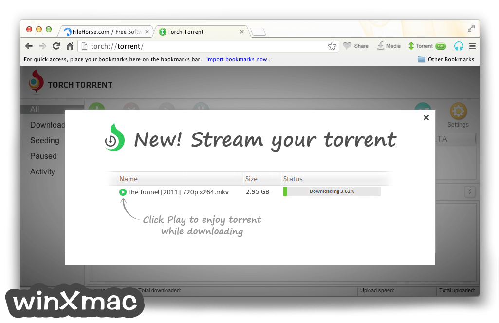 Torch Browser for Mac Screenshot 2