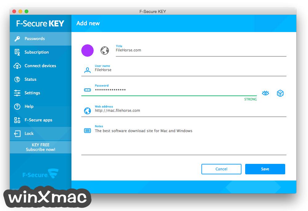 F-Secure KEY for Mac Screenshot 2