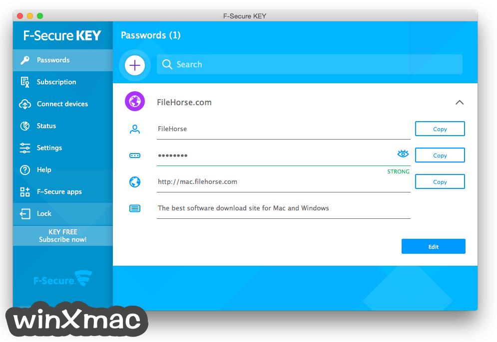 F-Secure KEY for Mac Screenshot 3