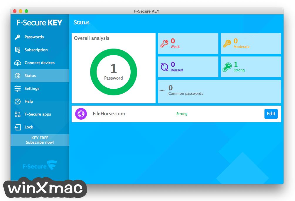 F-Secure KEY for Mac Screenshot 4