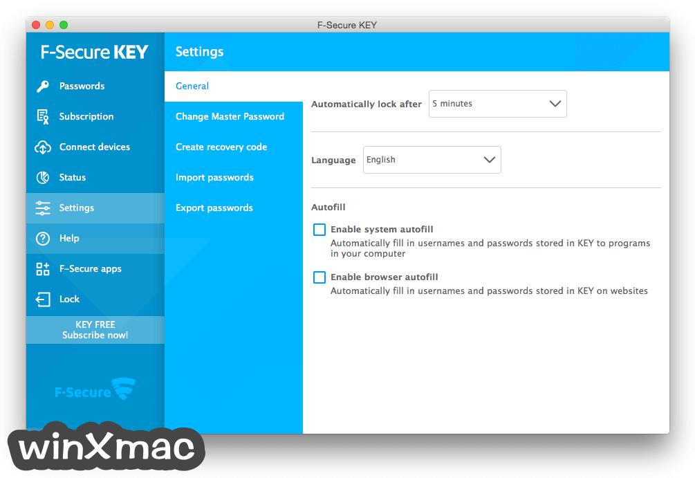F-Secure KEY for Mac Screenshot 5