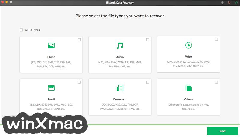 iSkysoft Data Recovery for Mac Screenshot 1