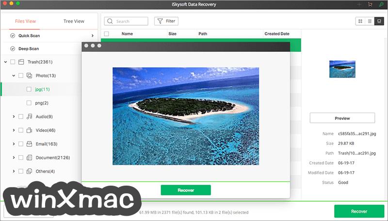 iSkysoft Data Recovery for Mac Screenshot 5