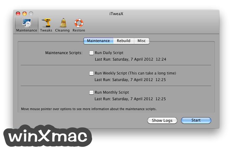 iTweaX for Mac Screenshot 1