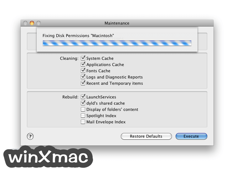 Maintenance for Mac Screenshot 2