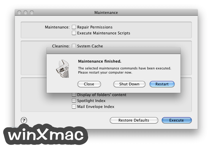 Maintenance for Mac Screenshot 3