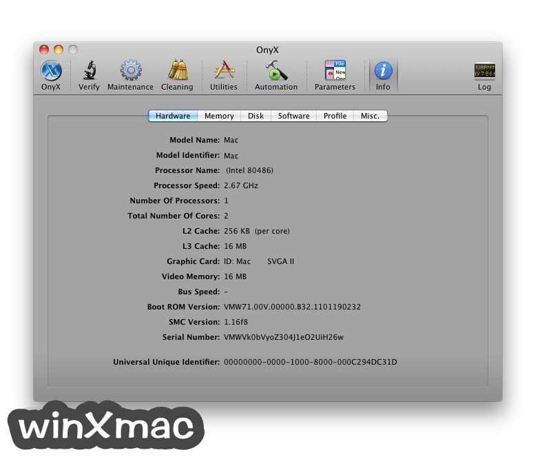 OnyX for Mac Screenshot 4