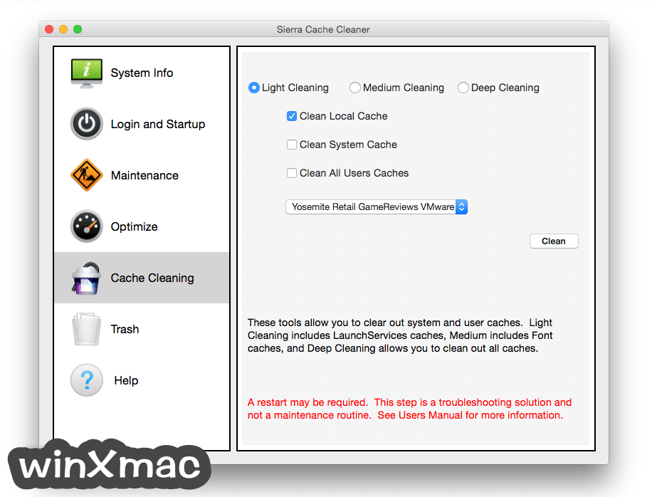Sierra Cache Cleaner for Mac Screenshot 4