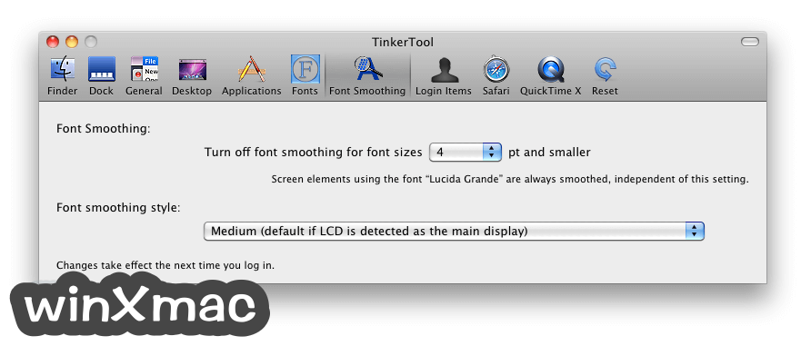 TinkerTool for Mac Screenshot 5