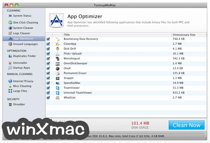 TuneupMyMac Screenshot 3