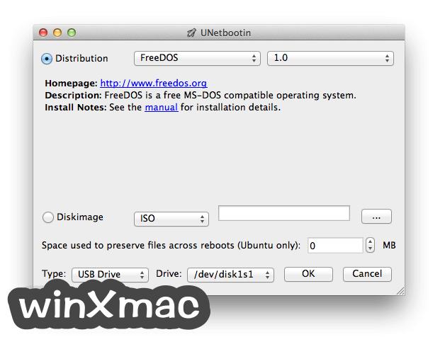 UNetbootin for Mac Screenshot 1