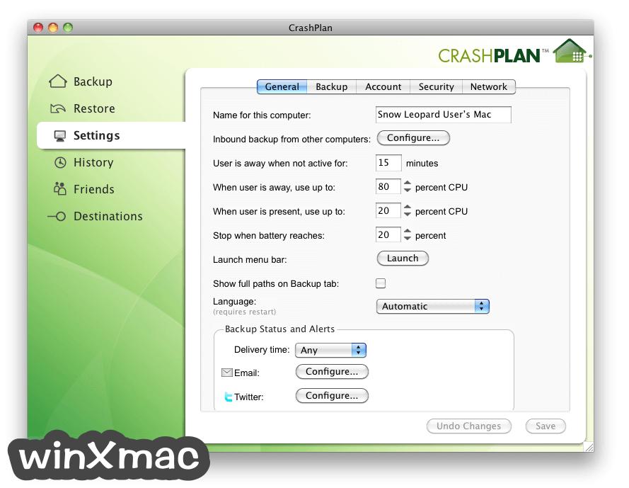 CrashPlan for Mac Screenshot 2