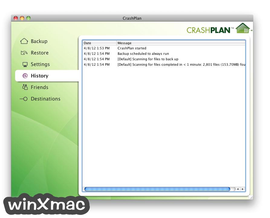 CrashPlan for Mac Screenshot 3