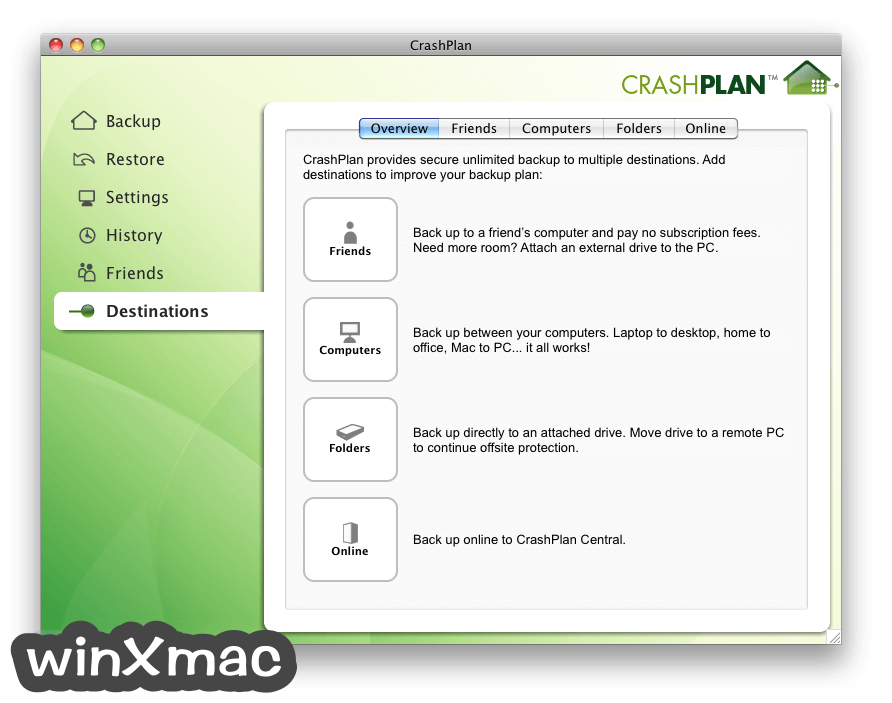 CrashPlan for Mac Screenshot 4