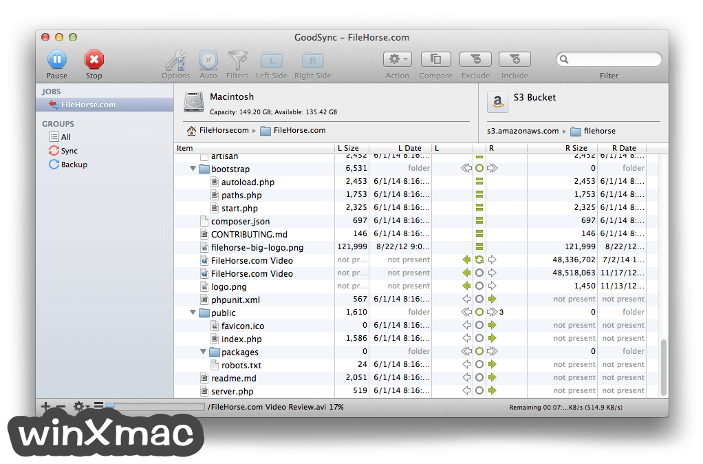 GoodSync for Mac Screenshot 4
