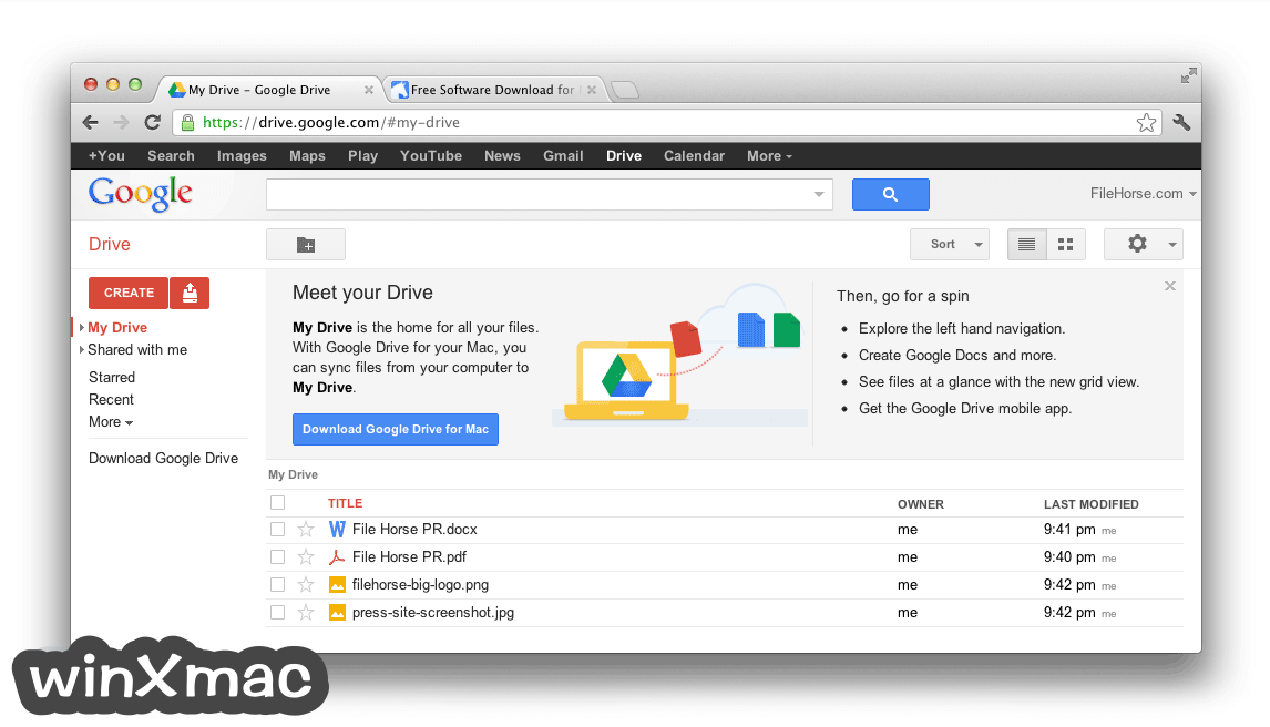 Google Drive for Mac Screenshot 2