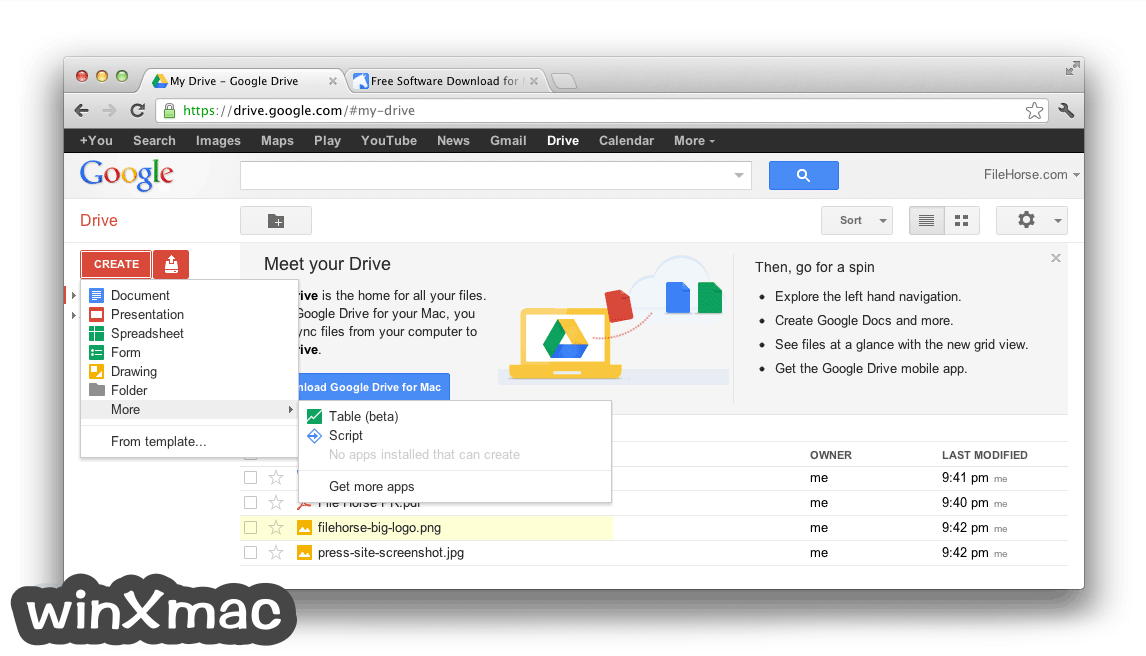 Google Drive for Mac Screenshot 3