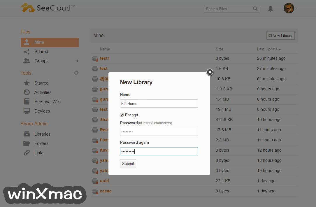 Seafile for Mac Screenshot 1