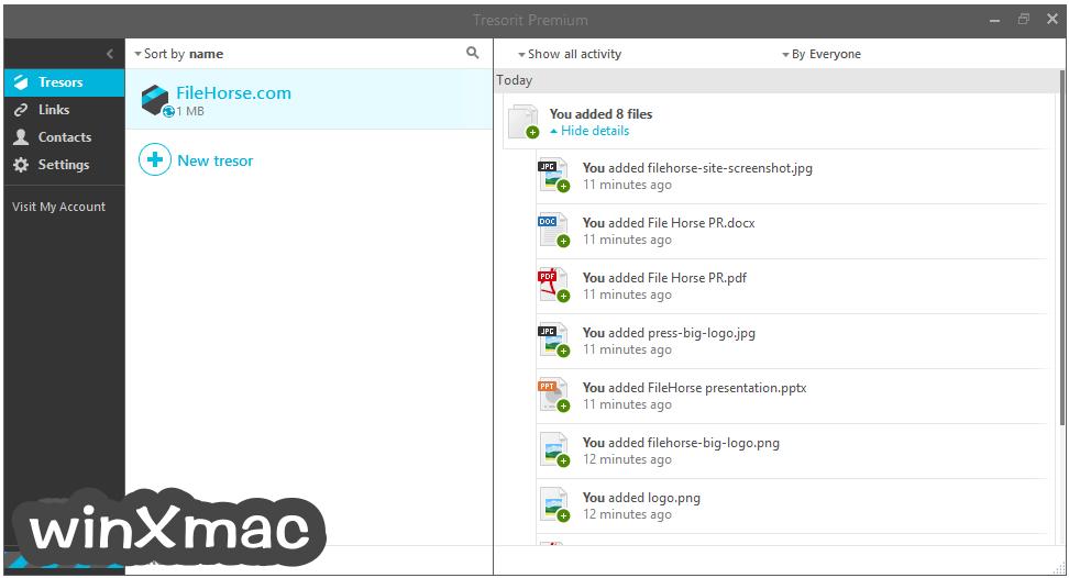 Tresorit for Mac Screenshot 2