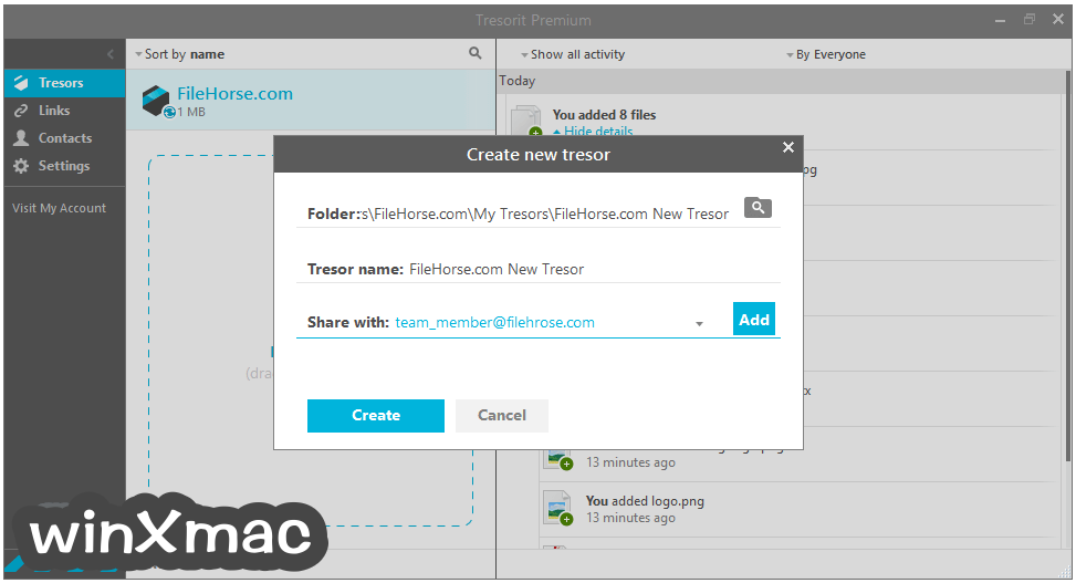 Tresorit for Mac Screenshot 3