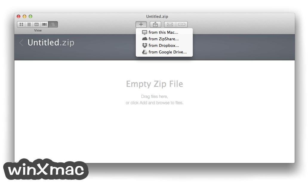 WinZip Mac Edition Screenshot 1