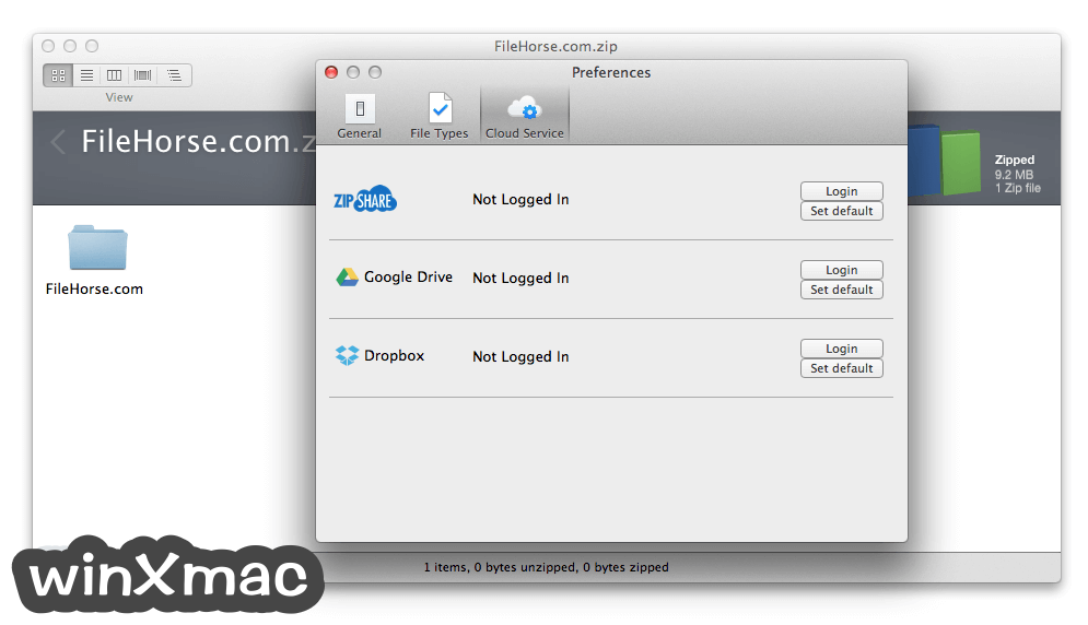 WinZip Mac Edition Screenshot 3