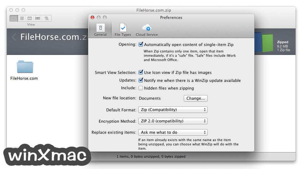 WinZip Mac Edition Screenshot 5