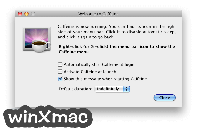 Caffeine for Mac Screenshot 1
