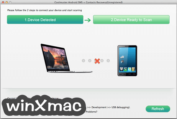 Coolmuster Android SMS + Contacts Recovery for Mac Screenshot 1